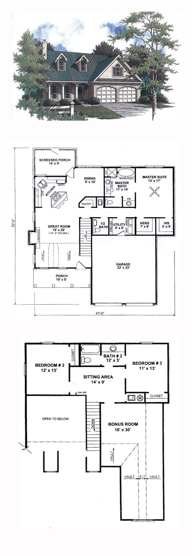 16 best country house plans images on pinterest country houses country style cool house plan id chp 14541 total living area 1815