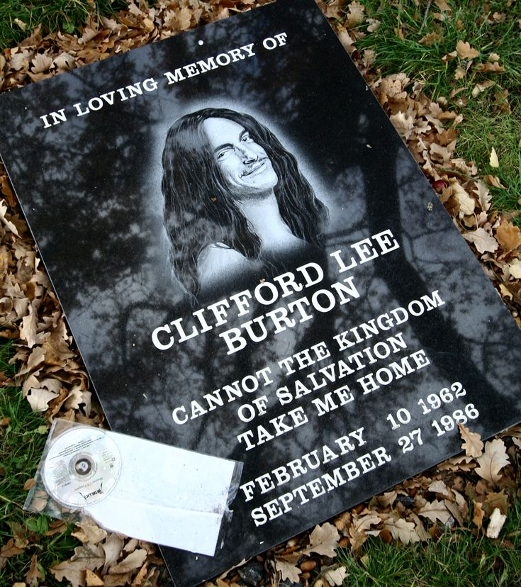 cliff burton   Cliff Burton Memorial Stone