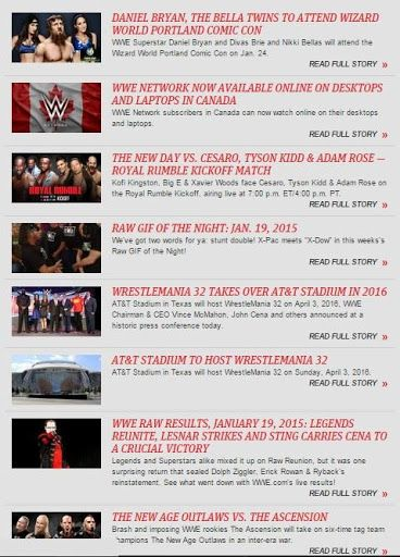 This Wrestling Daily News & Gossip is the app in the store to give you uptodate news and happenings in the arena of Wrestling.  This Wrestling Daily News & Gossip capitalise on the RSS news feed to bring you all you ever wanted to know about your Wrestling rumours! All articles updated comes with full article on wrestling including pictures and footage of it as well. Besides official daily updated news, you can also find out who is the champion wrestling in the world.Special Features