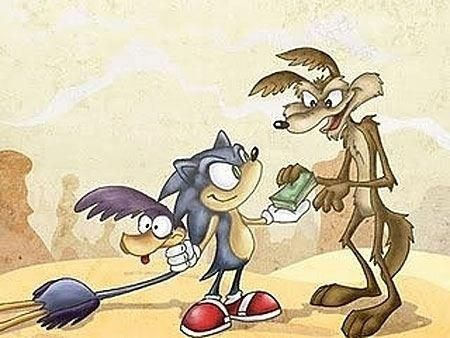 Sometimes You Just Have To Pay A Guy For The Right Job: Coyote, Money, Funny Stuff, Humor, Funnies, Things, Sonic