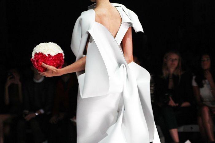 Toni Maticevski 2013, via stylebubble. Bridal insp, neoprene new-age bride