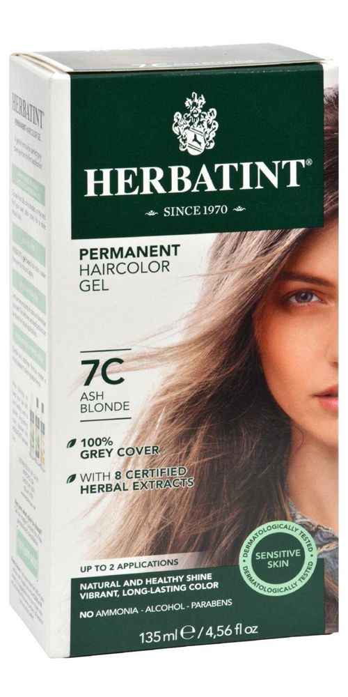 Herbatint Permanent Herbal Hair Colour Gel 7c Ash Blonde 135 Ml