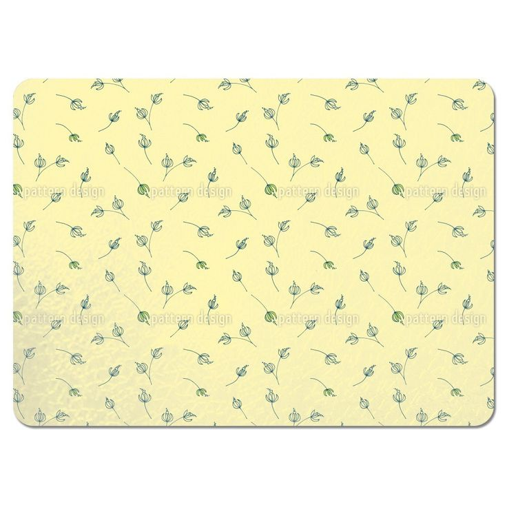 Uneekee Talula Yellow Placemats (Set of 4) (Talula Yellow Placemat) (Polyester)