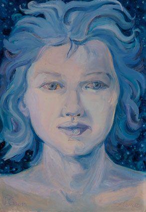 Barbara Gatti Cocci - Titolo - Selene - olio su cartone telato - cm 26 x38 - anno 2015