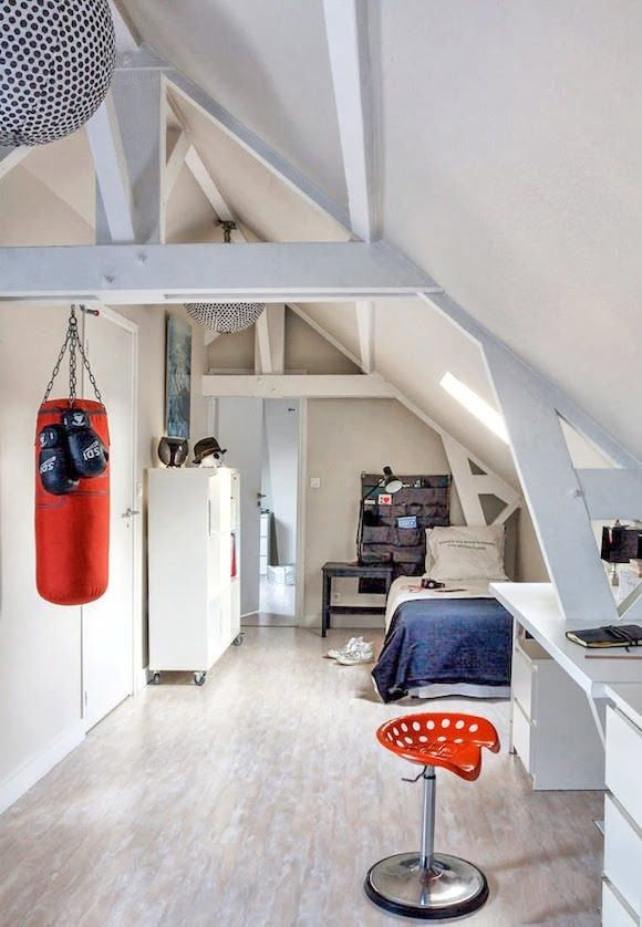 Una stanza per i teenager sportivi #mansarda
