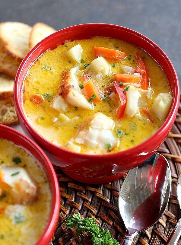 As 288132 melhores imagens em food bloggers central for Creamy fish soup recipe