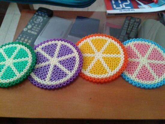 Posavasos hama beads by Achycrafts