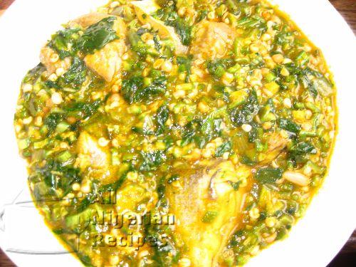 Nigerian food recipe Okra Soup