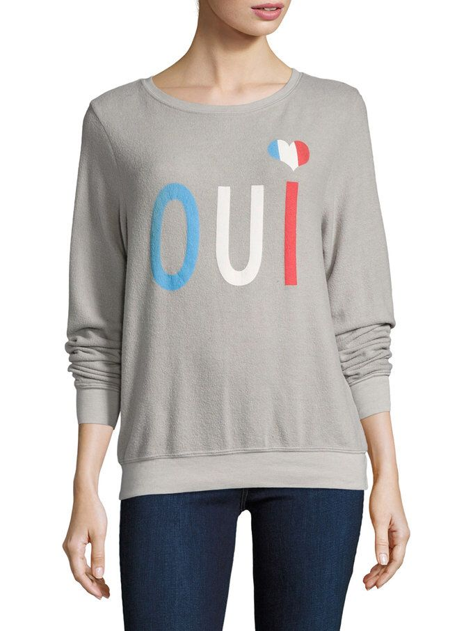 Oui Colorblock Baggy Beach Sweater from Wildfox on Gilt