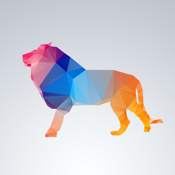 Glass Animal Series - Lion Art Print by Three of the Possessed