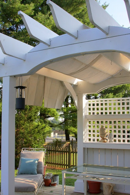 Drop Cloth Pergola Shade Backyard Ideas Pinterest