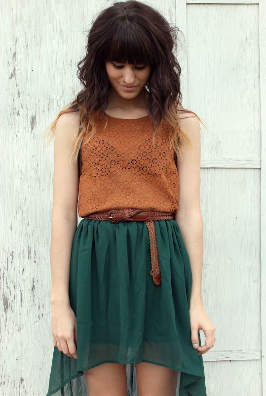 High low skirt.
