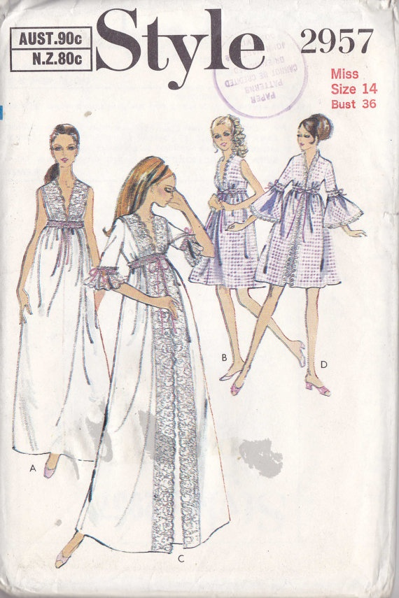 Vintage Lingerie Pattern | Vintage Night Gowns | Vintage ...
