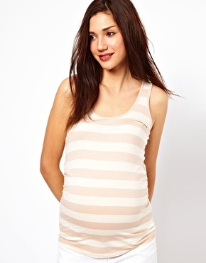 Ruched maternity top variation inspiration: sleeveless