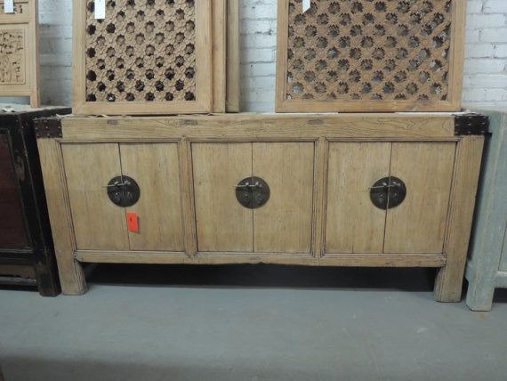 Antique Chinese Rustic Storage Credenza Or Console I Natural Finish Los  Angeles By ModernRedLA