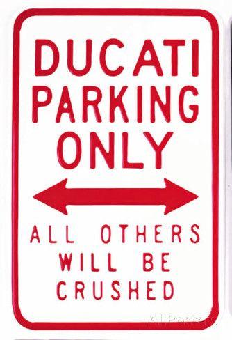 Ducati Parking Only Cartel de chapa en AllPosters.es