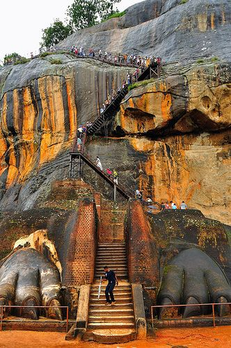 View of Lion's Feet Gateway to Sigiriya ~ Central Province, Sri Lanka