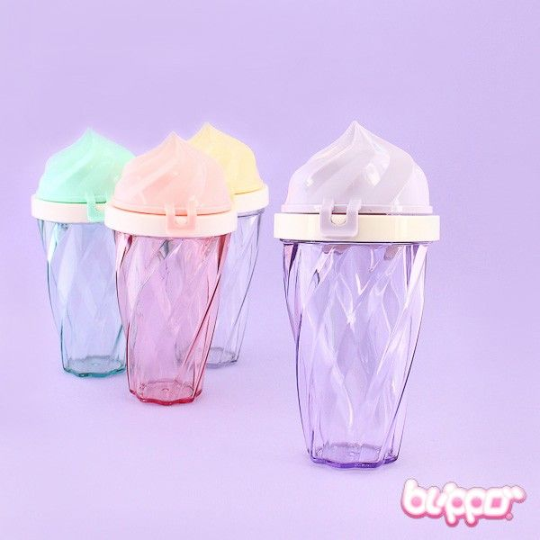 Kawaii-fy your on the go -style with this soft ice cream drinking bottle! The cap stays safely closed with clicking closing mechanism. The lid can be easily removed, so the lid and the bottle can be hand washed separately. The bottle also has handy strings attached, so you can keep the bottle safely in your hand. Stay hydrated and drink your water, smoothies or juices with Kawaii style!