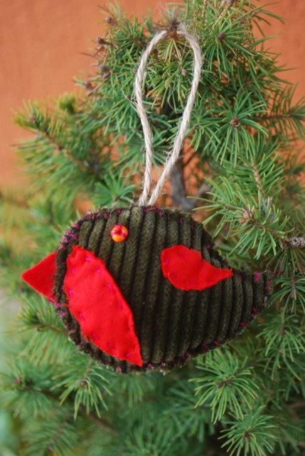 Christmas Tree Ornament by IrMarina on Etsy, $3.00