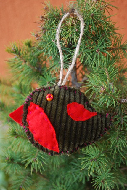 Christmas Tree Ornament by IrMarina on Etsy, $3.00