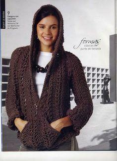 iKnitts: Patron para tejer Sweater Cangurito con capucha