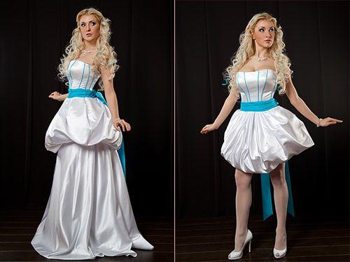 Длинное платье-трансформер можно легко укоротить