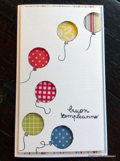 card buon compleanno con palloncini/ card happy birthday