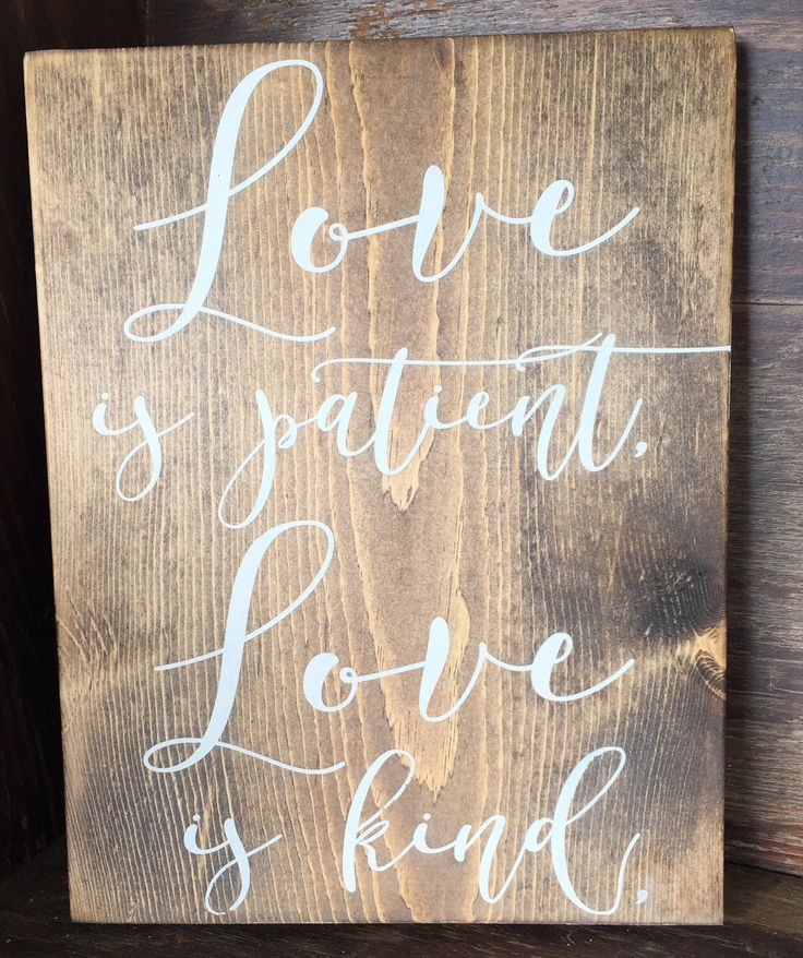 Wedding Aisle Signs | Love Is Patient Love Is Kind Signs | 1st Corinthians 13 Wedding Signs | Wedding Ceremony Signs | Rustic Wedding Signs by WeddingSignLuxe on Etsy https://www.etsy.com/listing/499998526/wedding-aisle-signs-love-is-patient-love