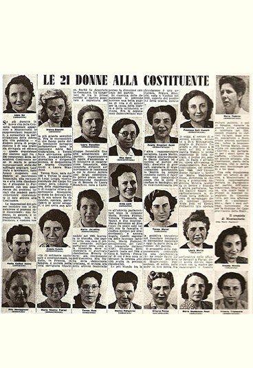 Partigiane e Costituenti d'Italia - le 21 donne dell'Assemblea Costituente, che promulgò la Costituzione della Repubblica Italiana nel 1948 #TuscanyAgriturismoGiratola