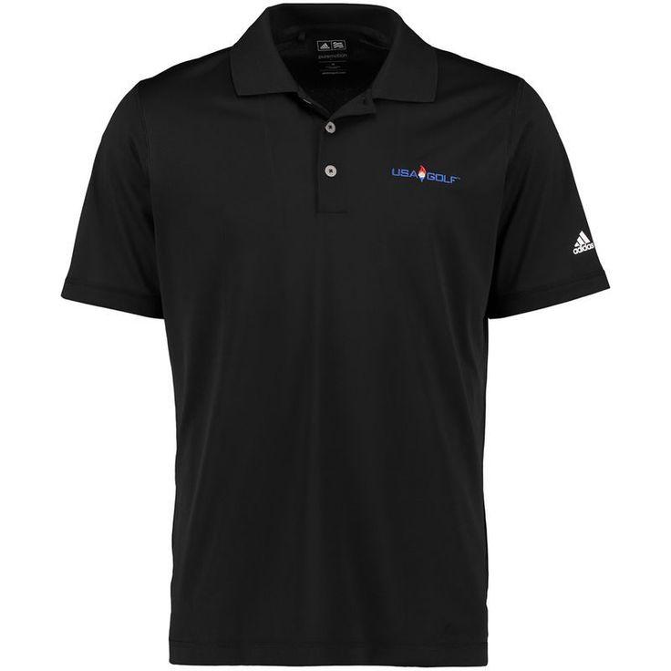 adidas USA Golf climalite Solid Polo - Black