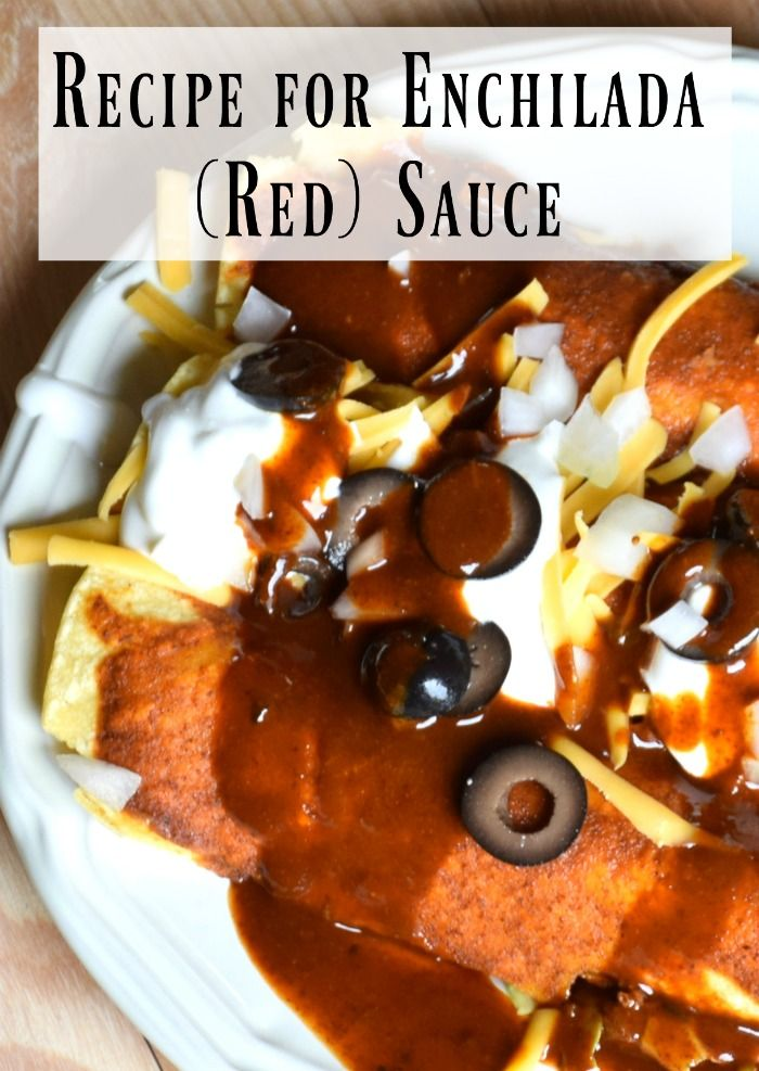 Recipe for Enchilada Sauce (Red Sauce) http://aproverbs31wife.com/recipe-for-enchilada-sauce-red-sauce/