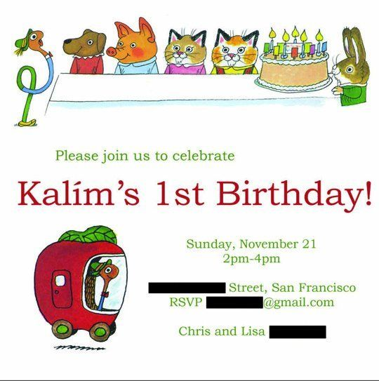 Best Kids Parties: Richard Scarry's Busytown — My Party: Kalím (San Francisco, CA) | Apartment Therapy