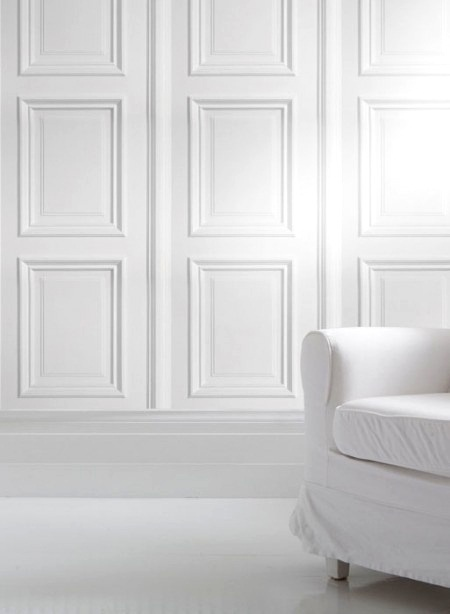 ❖Blanc❖ #White #paneled #moulding decor