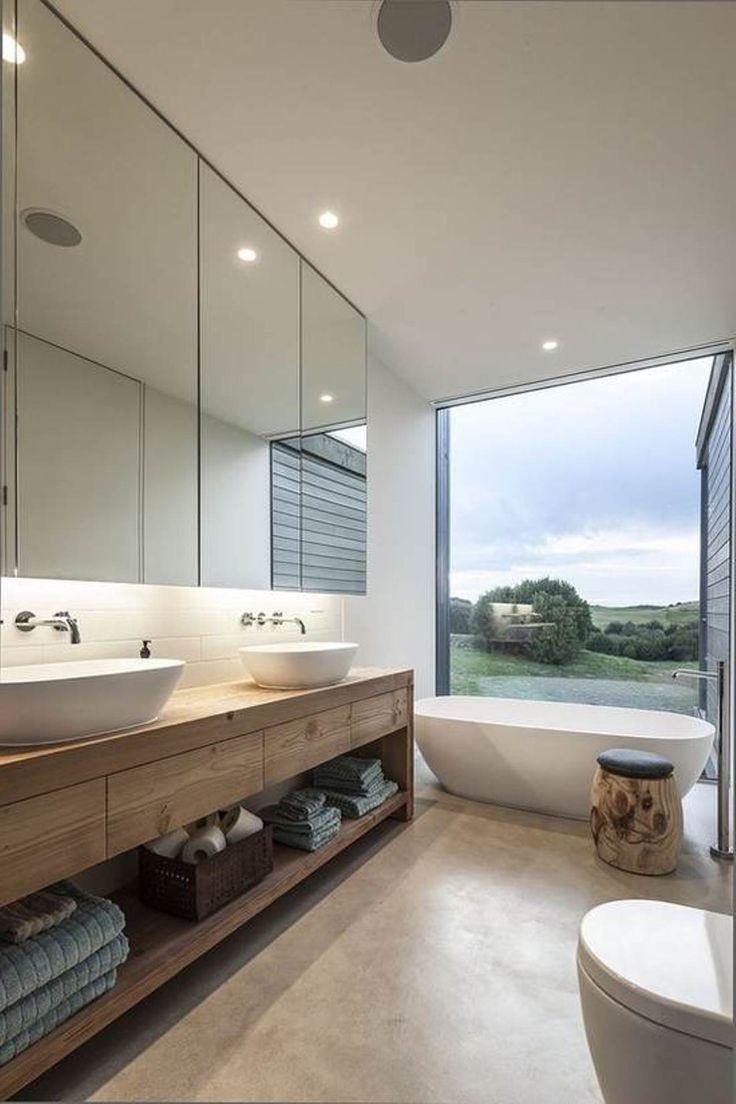 17 melhores ideias sobre Banheiros Modernos no Pinterest  Projeto moderno de -> Banheiros Modernos Chuveiro