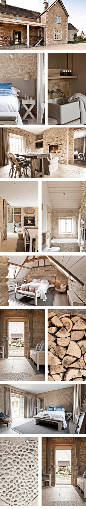 Stay in a cottage in the Cotswolds, England on a working organic farm. Looks wonderful.   Daylesford Organic Farm