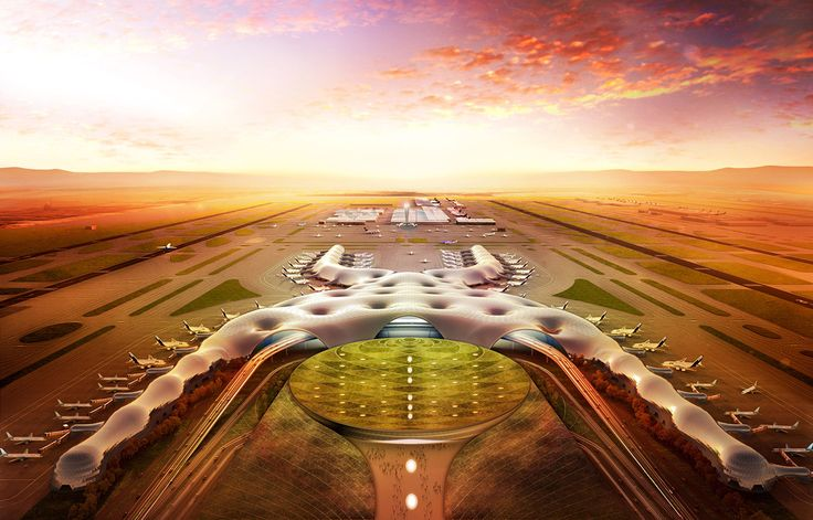 Construction started on Foster Partners and FR-EE's Mexico City International Airport