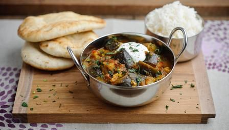 "Quick vegetable curry | BBC Food. I just need to remember that ""aubergine"" is an eggplant!"