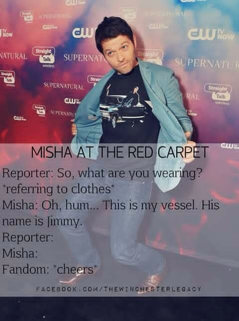 Misha Collins everyone- I am in love with this man