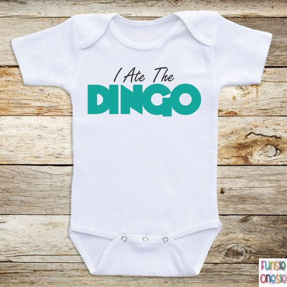 Funny Onesies For Babies I Ate The Dingo Long by OnesiesForBabies