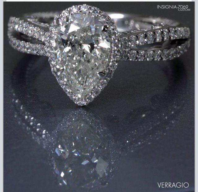 Teardrop engagement ring Ring