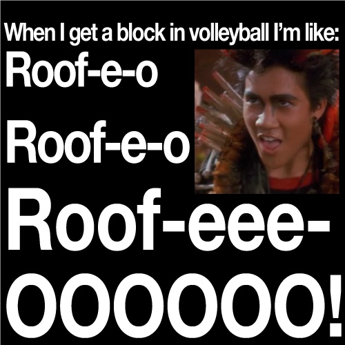 when I get a block in volleyball #rufio #hook