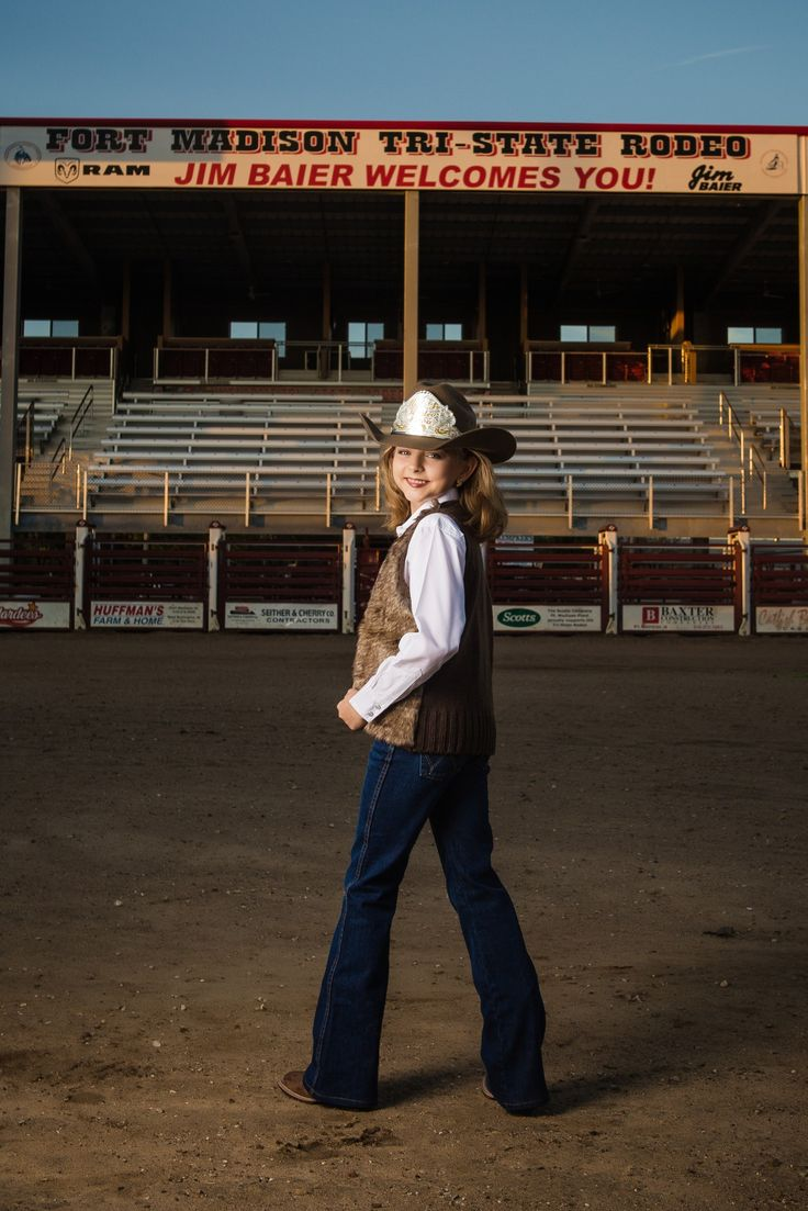 Miss Jr. Rodeo Iowa 2017 at the Tri-State Rodeo arena, Fort Madison, Iowa