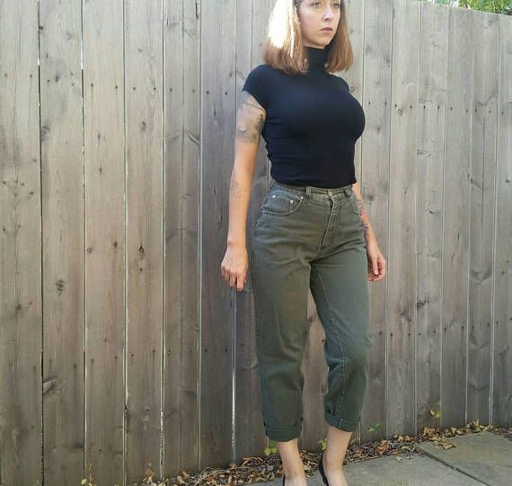 Check out this item in my Etsy shop https://www.etsy.com/listing/547821758/vintage-early-90s-high-waisted-olive