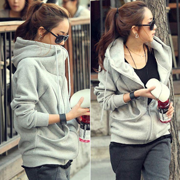 Ropa de otoño/invierno 2013 cero era la ropa de mujer tallas grandes con capucha larga manga suelta Cardigan Sweater suéter casual abrigo de cachemir