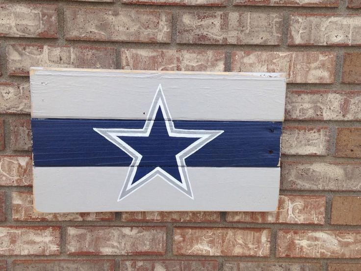 A personal favorite from my Etsy shop https://www.etsy.com/listing/223918997/dallas-cowboys-sign-handpainted-recycled