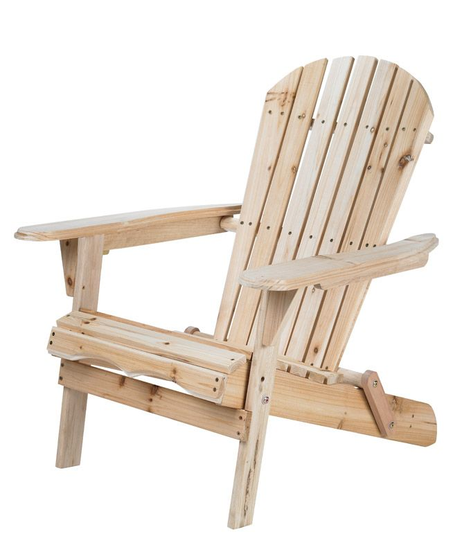 Living Accents Foldable Natural Wood Foldable Chair Wood