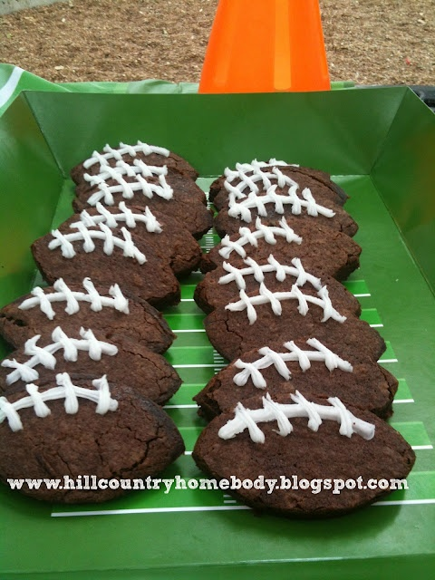 Football birthday party    Hill Country Homebody