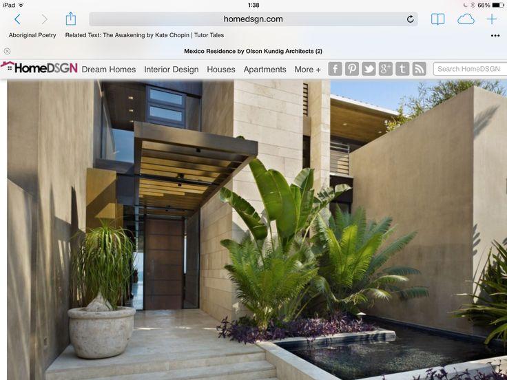 Door, plants and tiles