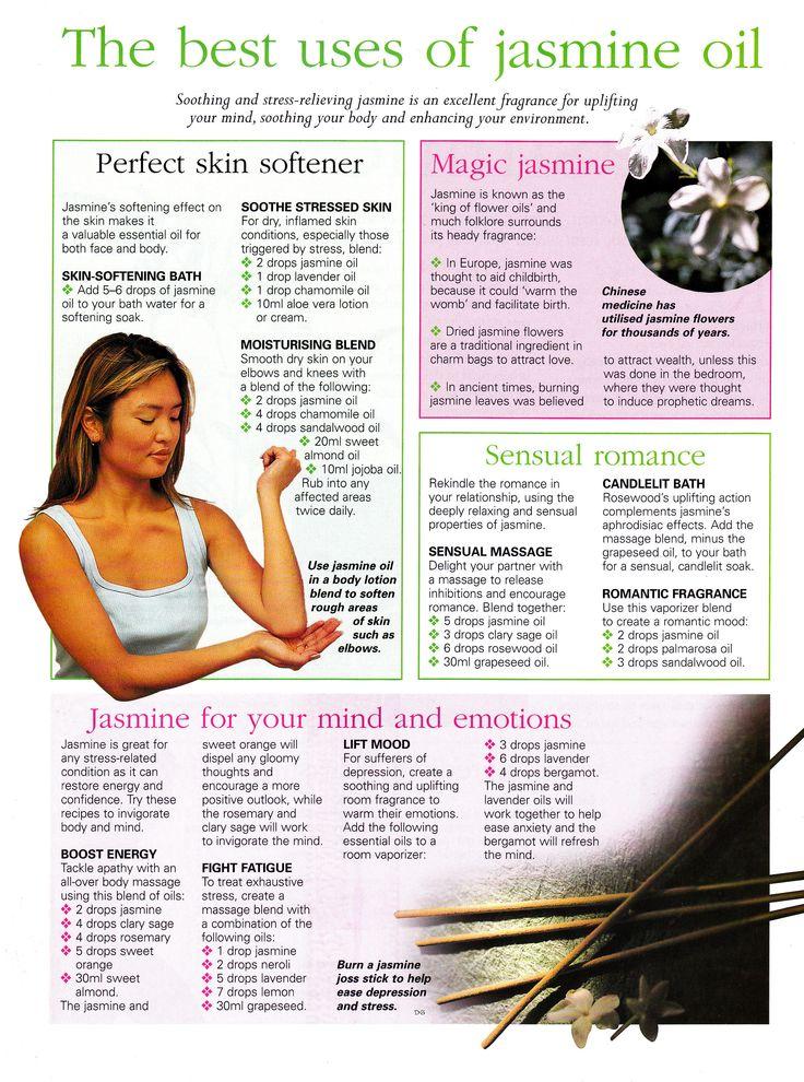 Best uses for Jasmine oil  www.fb.com/HealingLotusAromatherapy