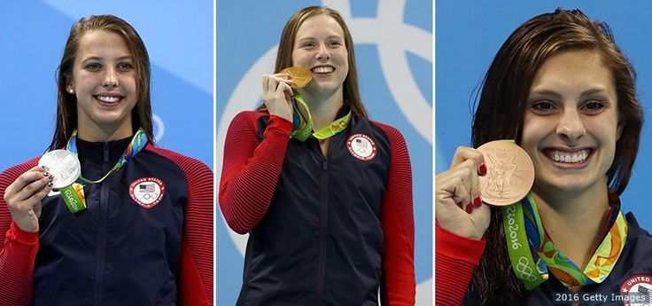 U.S. Olympic Team ‏@TeamUSA  Aug 9 .@USASwimming women are OWNING the podium!  Miss last night's races? Catch up w/ #TeamUSA!  http://go.teamusa.org/2aRUbir   USA Swimming, Kathleen Baker, Katie Meili and Lilly King